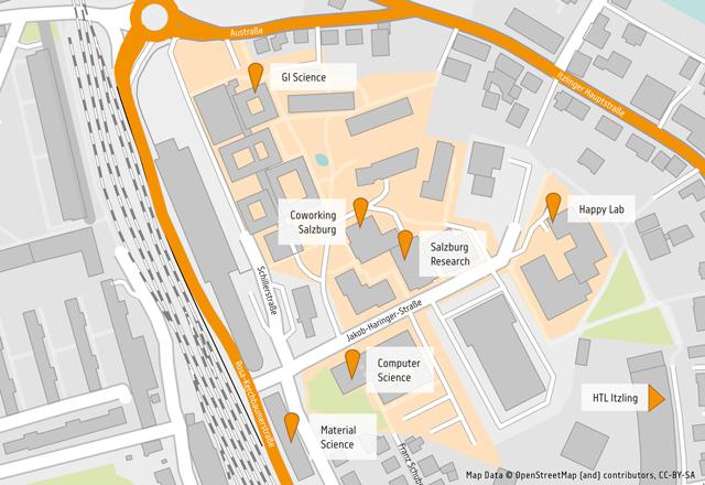 Karte Umgebung