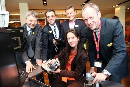 v.l.n.r. - Rudolf Hittmair (GF BCCS), Werner Pfeiffenberger (GF Techno-Z), Labg. Hans Scharfetter, Julia Eder (Salzburg Research), Siegfried Reich (Salzburg Research)