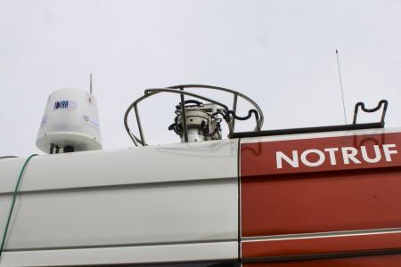 •Der Mobile Broadband Extender im Einsatz bei der Bundesrettungsübung in Allentsteig. © Salzburg Research