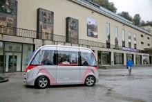 Selbstfahrender Minibus, Präsentation , Salzburg, Domplatz, 20161018, (c)wildbild