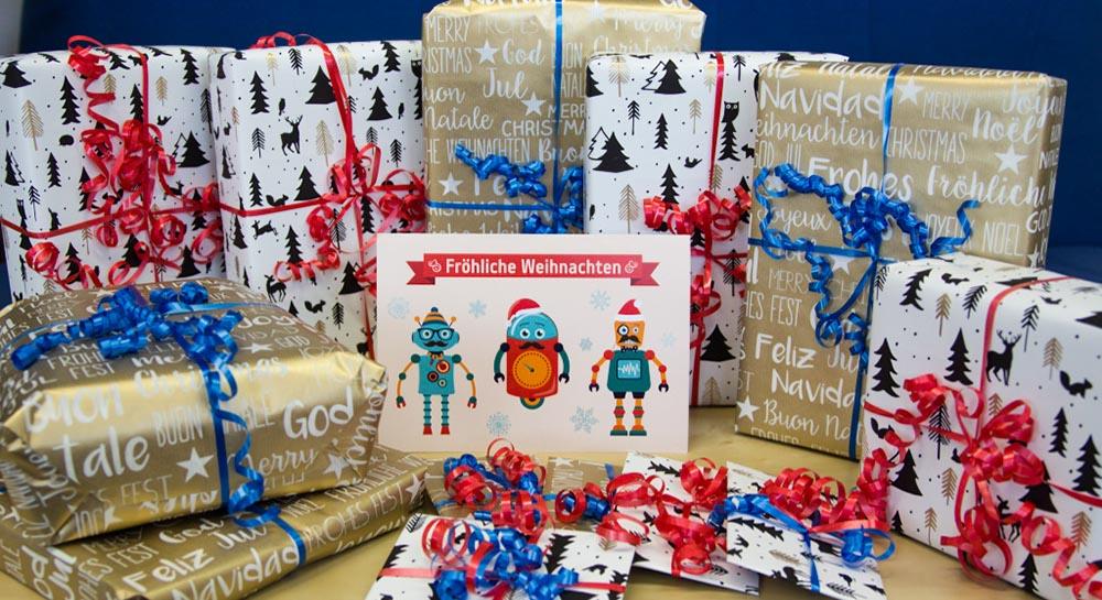 Weihnachtsaktion 2016 der Salzburg Research Forschungsgesellschaft: Geschenke für die Anna Bertha Königseggschule für Schwerstbehinderte in Salzburg