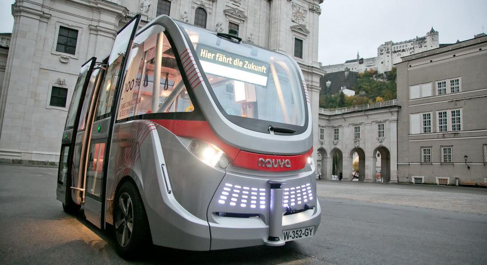 Autonomes Fahren: Selbstfahrender Minibus in Salzburg; Salzburg Research