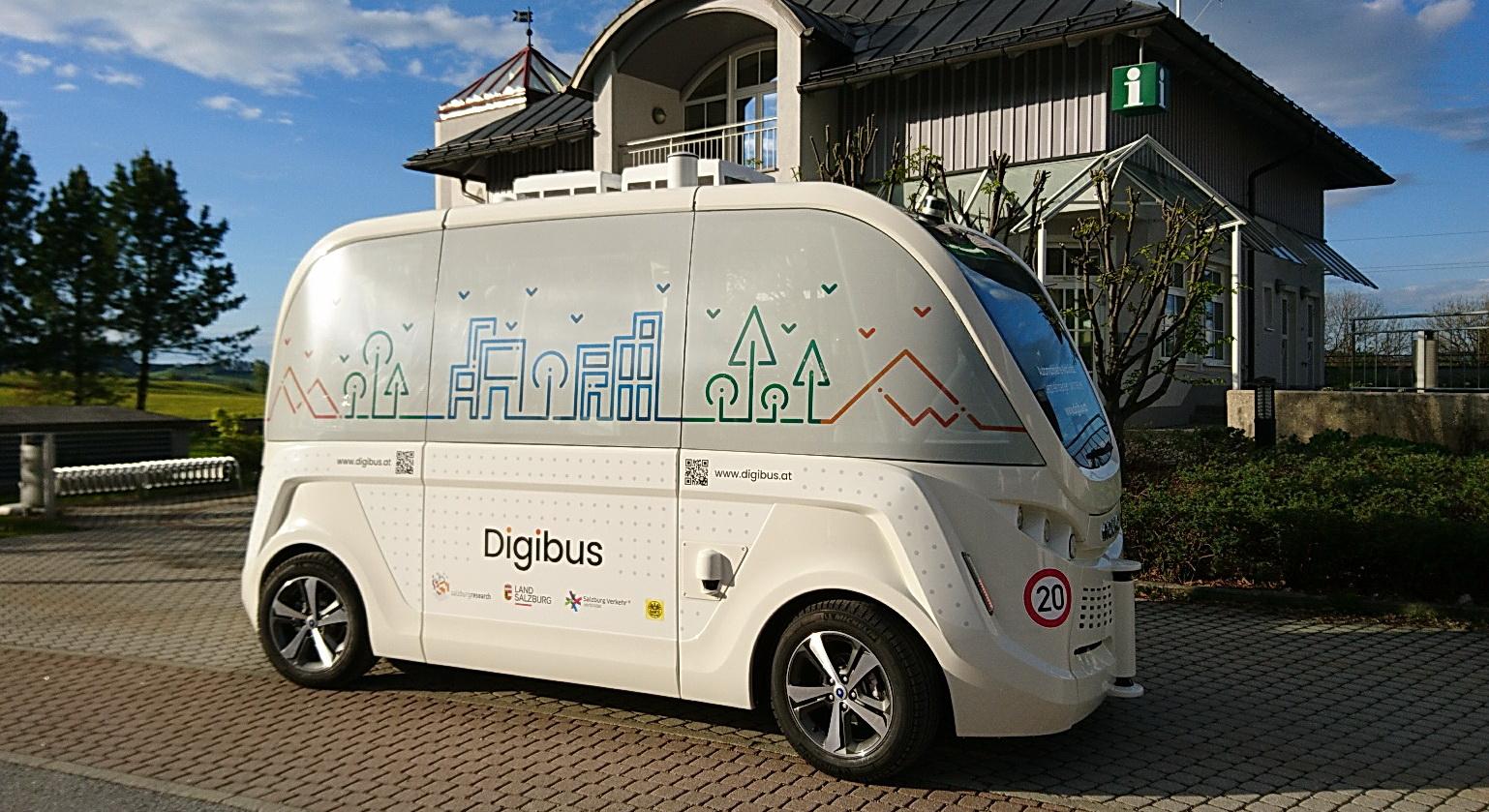 Digibus: österreichs erstes selbstfahrendes Fahrzeug