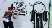 Graffiti-Aktion Christian Doppler