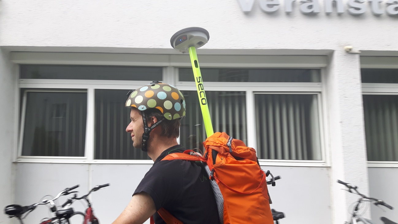 One week with Leica's brand new GG04 GPS antenna - Salzburg Research