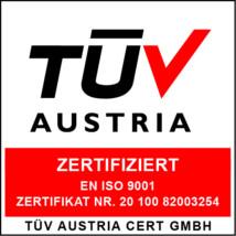 Zertifikat TÜV Austria