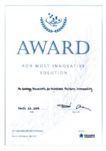 Award for Most Innovative Solution 2018