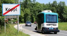 Digibus Austria: Automatisiertes Shuttle im Test in der Salzburger Gemeinde Koppl.