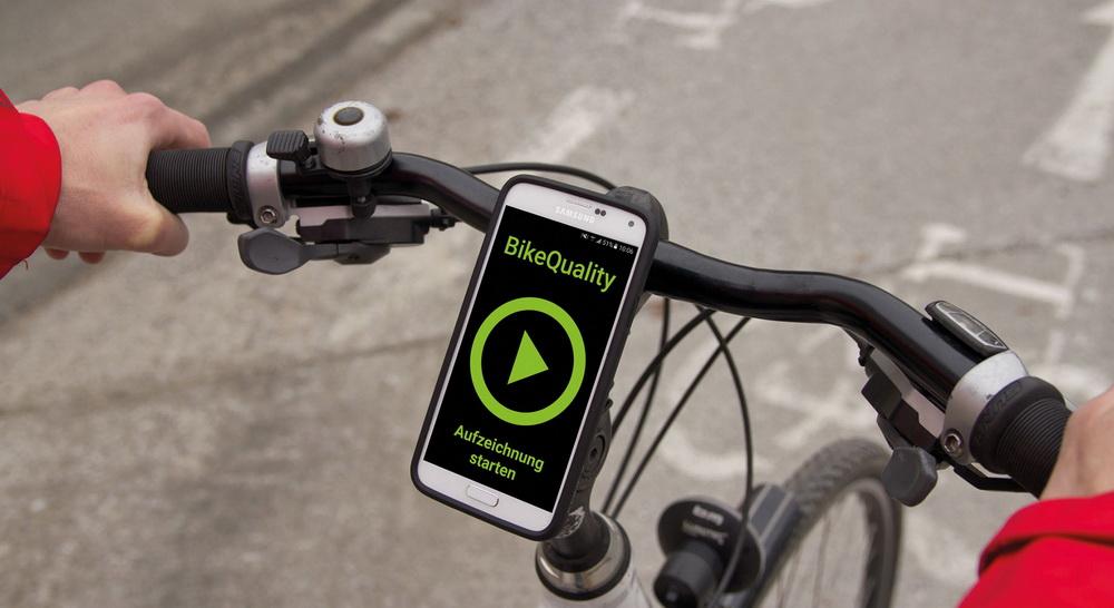 Bike Quality App auf Lenker