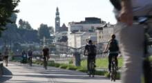 Fahrradfahrer*innen am Rudolfskai